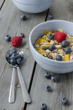 Granola with fresh berries. Breakfast Stock Image