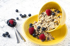 Granola with fresh berries. For healthy breakfast Royalty Free Stock Image
