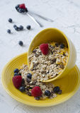 Granola with fresh berries. For healthy breakfast Stock Photos