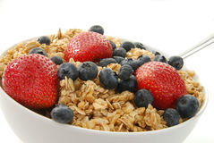 Granola and fresh fruit Royalty Free Stock Photography