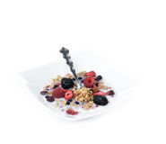 Granola and Fresh Fruit Stock Photos