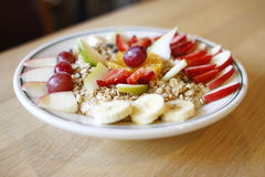Granola with fruit Royalty Free Stock Photo