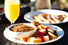 Granola and fruits for breakfast Stock Photo
