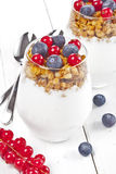 Granola with fruits Stock Photo