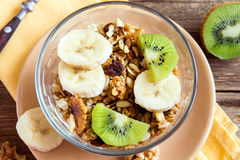 Granola with fruits and nuts Stock Images