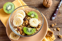 Granola with fruits and nuts Royalty Free Stock Photo