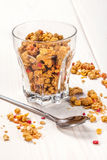 Granola in a glass. Royalty Free Stock Photo
