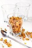 Granola in a glass. Stock Photo