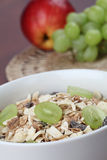 Granola with grapes Stock Images