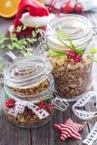 Granola hecho en casa como presente foto de archivo libre de regalías