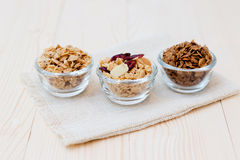 Granola. Homemade dessert delicious granola is a breakfast food and snack food consisting of rolled oats, nuts, honey. it is lightweight, high in calories stock image