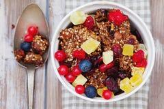 Granola i świeże jagody Obrazy Stock