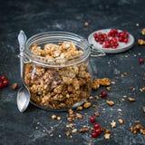 Granola in jar Stock Image