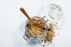Granola in a jar Royalty Free Stock Photo