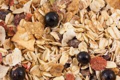 Granola macro Stock Image