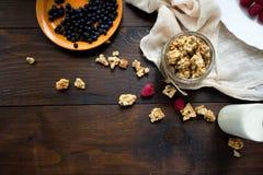 Granola met bessen Stock Foto's
