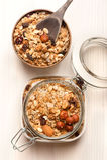 Granola met noten Royalty-vrije Stock Fotografie