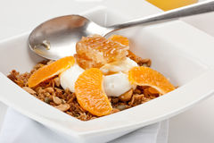 Granola met Yoghurt Royalty-vrije Stock Afbeelding