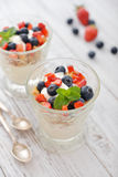 Granola mit Jogurt Lizenzfreie Stockfotografie