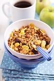 Granola mit Muttern und Früchten Lizenzfreie Stockfotos