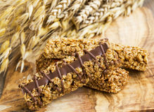 Granola or muesli bars with chocolate Royalty Free Stock Photography