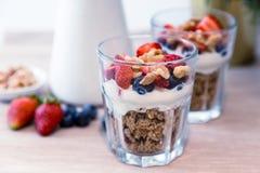 Granola śniadanie Fotografia Stock