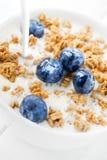Granola śniadanie z jagodami Zdjęcia Stock