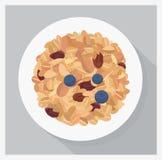 Granola op een plaat stock illustratie