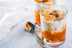 Granola with orange and mandarin Royalty Free Stock Photography
