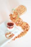 Granola per l'alimento sano e la dieta della prima colazione Fotografie Stock