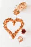 Granola per l'alimento sano e la dieta della prima colazione Fotografie Stock Libere da Diritti