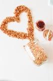Granola per l'alimento sano e la dieta della prima colazione Immagine Stock