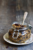 Granola from rye and oat flakes with dried cranberries and cocon Stock Image