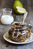 Granola from rye and oat flakes with dried cranberries and cocon Royalty Free Stock Photography