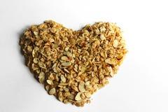 Granola sano del cuore immagini stock libere da diritti