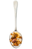 Granola in spoon Royalty Free Stock Photo