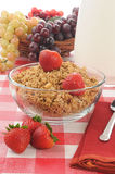 Granola with strawberries Stock Images