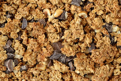 Granola texture background. Home made granola texture background Royalty Free Stock Image