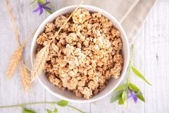 Granola on top view Royalty Free Stock Photography