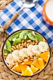 Granola with tropical fruits Stock Photography