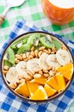 Granola with tropical fruits Royalty Free Stock Photos