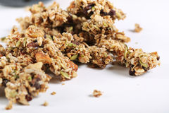 Granola on white background Stock Photography