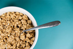 Granola in white bowl Royalty Free Stock Photo