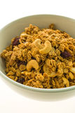 Granola in white bowl Royalty Free Stock Photography