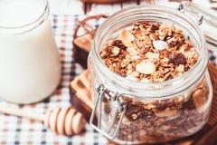 Granola and yoghurt Royalty Free Stock Photo
