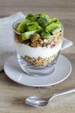 Granola and yoghurt with kiwi Stock Photography