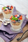 Granola with yogurt and berries Royalty Free Stock Photography