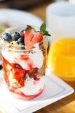 Granola with yogurt Stock Photography