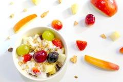 Granolafrühstück eingestellt mit Jogurt Lizenzfreies Stockbild