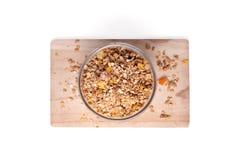 Granolagraangewas met droge vruchten Stock Afbeeldingen